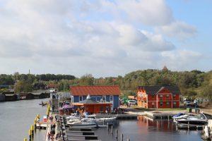 Blick über die gesamte Anlage :: Ferienwohnung am Hafen Plau am See :: Müritzfischer
