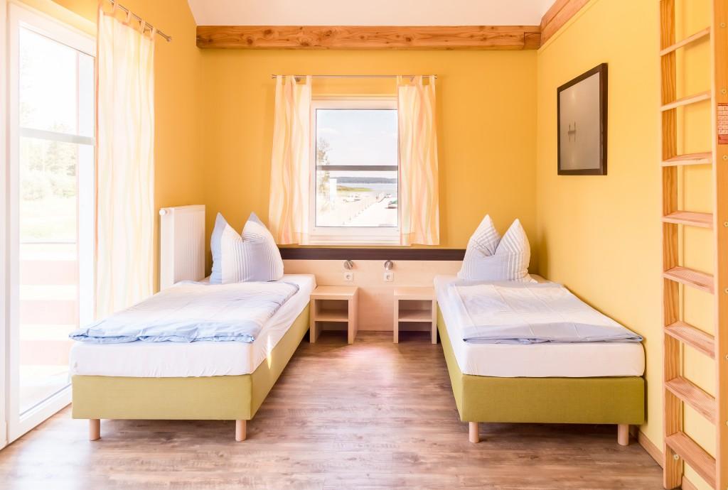 Schlafzimmer im Apartment :: Ferienwohnung am Hafen Plau am See :: Müritzfischer