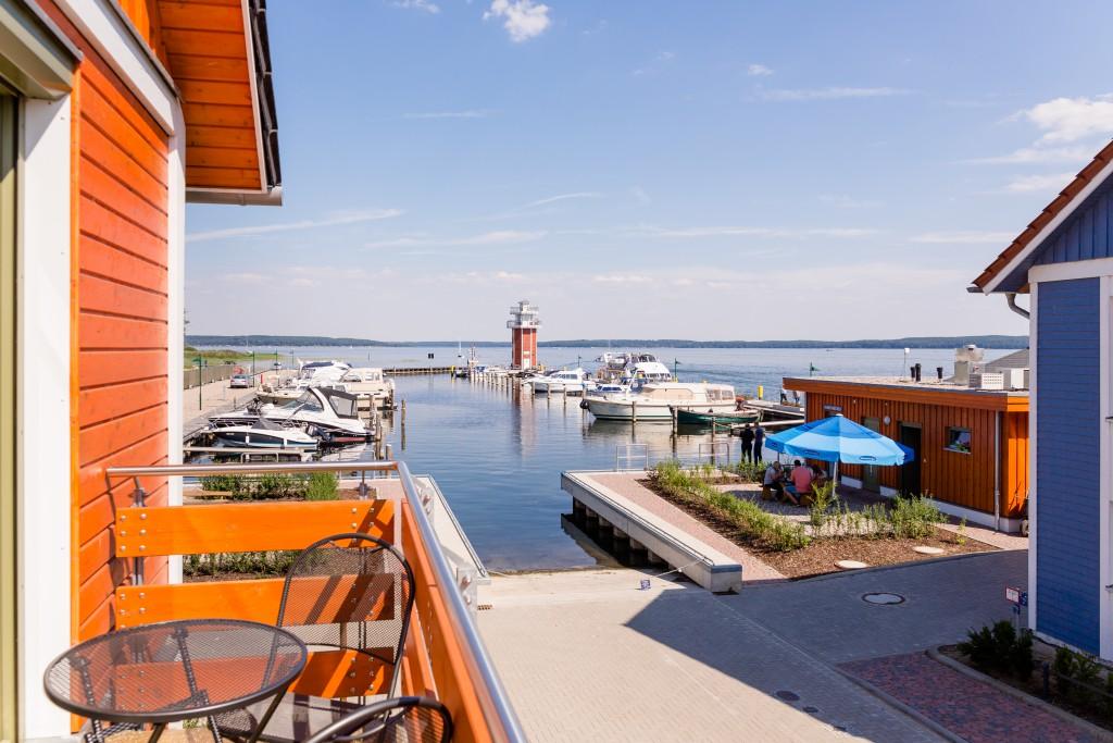 Freier Blick auf den Plauer See :: Ferienwohnung am Hafen Plau am See :: Müritzfischer